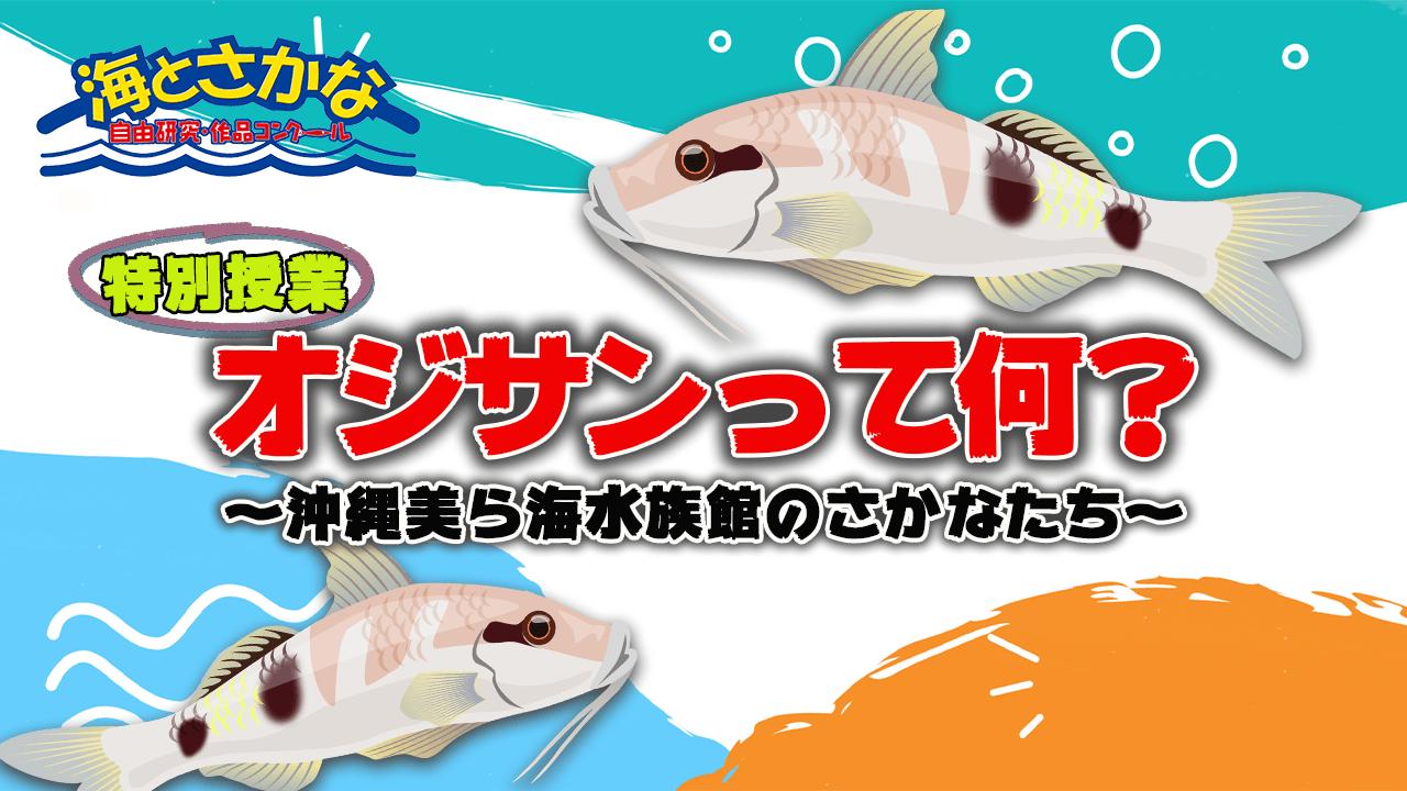 特別授業『沖縄美ら海水族館のさかなたち』<br>〜オジサン編〜公開中!
